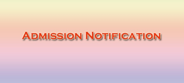 Admission Notification